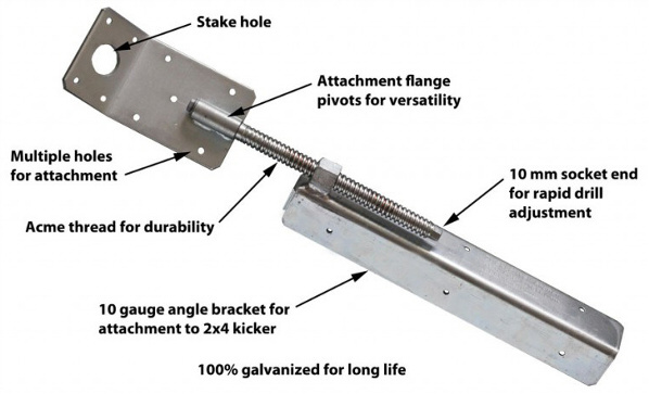 Fab-Form Zont Bracing System for ICF Wall Construction - Zuckle Wall Aligner for Colorado