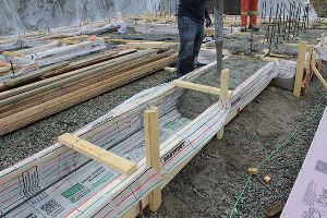 Fastfoot Fabric Formwork for Concrete Footings & Pad Edging in CO